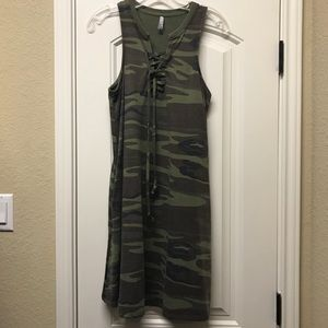 Z supply all tied up camo dress
